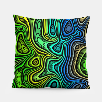 Thumbnail image of Abstract Color Wave Greens Pillow, Live Heroes