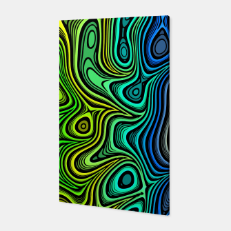 Thumbnail image of Abstract Color Wave Greens Canvas, Live Heroes