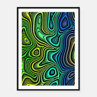 Thumbnail image of Abstract Color Wave Greens Framed poster, Live Heroes