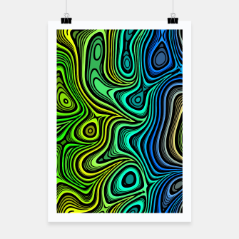 Thumbnail image of Abstract Color Wave Greens Poster, Live Heroes