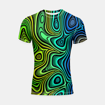 Thumbnail image of Abstract Color Wave Greens Shortsleeve rashguard, Live Heroes