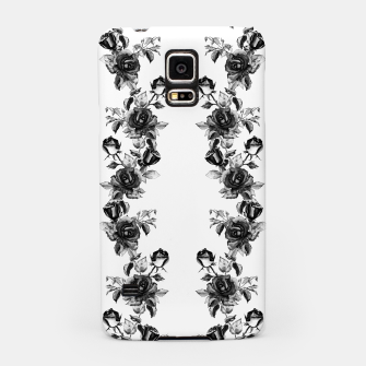 simple watercolor roses with tendrils seamless pattern black white on white Samsung Case thumbnail image