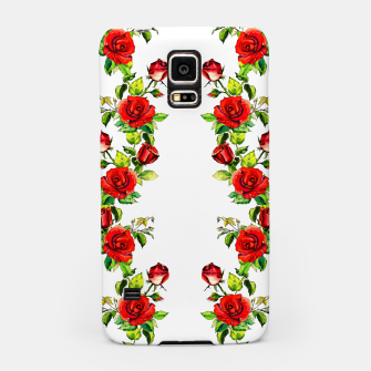 simple watercolor roses with tendrils seamless pattern on white Samsung Case thumbnail image