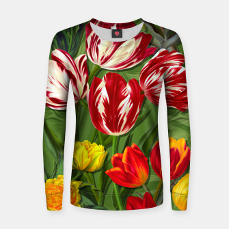Thumbnail image of Tulip Flower Fresh Garden Joy Women sweater, Live Heroes