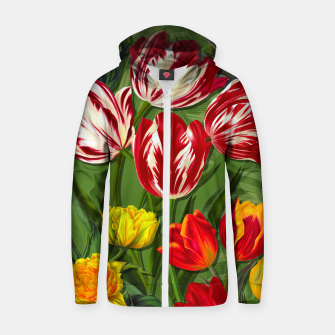 Thumbnail image of Tulip Flower Fresh Garden Joy Zip up hoodie, Live Heroes