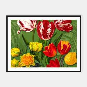 Thumbnail image of Tulip Flower Fresh Garden Joy Framed poster, Live Heroes