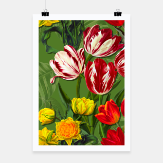 Thumbnail image of Tulip Flower Fresh Garden Joy Poster, Live Heroes