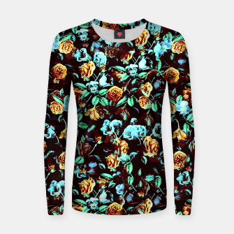 Thumbnail image of Yellow Blue Flowers Sweater, Live Heroes