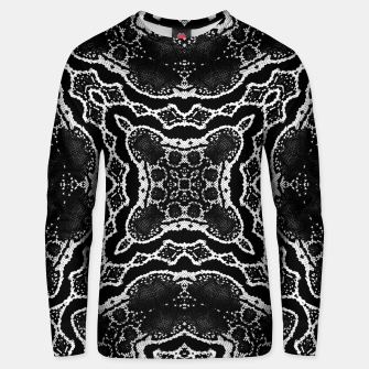 Thumbnail image of abstract jewel print Unisex sweater, Live Heroes