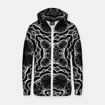Thumbnail image of abstract jewel print Zip up hoodie, Live Heroes