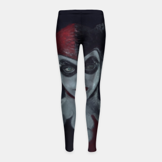 Thumbnail image of Harley Quinn Girl's leggings, Live Heroes