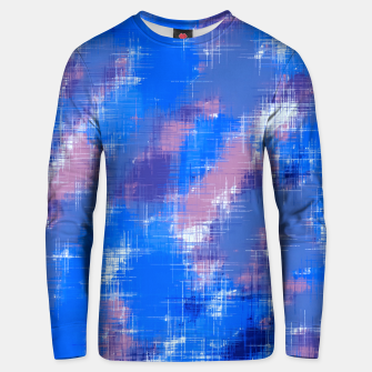painting texture abstract background in blue pink Unisex sweater thumbnail image