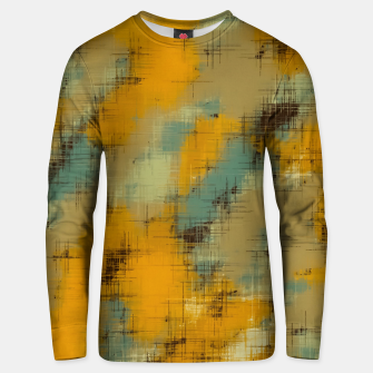 painting texture abstract background in brown and green Unisex sweater thumbnail image