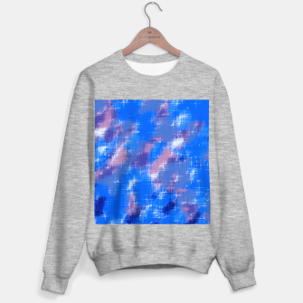 painting texture abstract background in blue pink Sweater regular thumbnail image