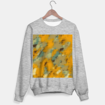 painting texture abstract background in brown and green Sweater regular thumbnail image