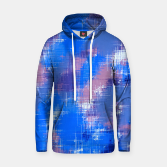painting texture abstract background in blue pink Hoodie thumbnail image