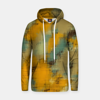 painting texture abstract background in brown and green Hoodie thumbnail image