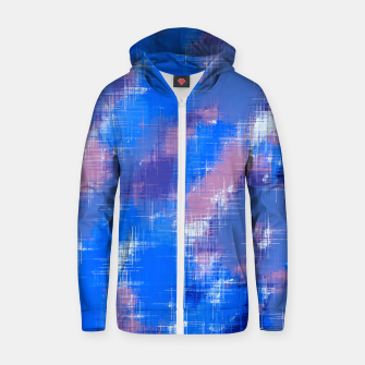 painting texture abstract background in blue pink Zip up hoodie thumbnail image