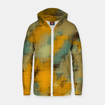 painting texture abstract background in brown and green Zip up hoodie thumbnail image