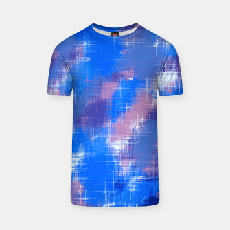 painting texture abstract background in blue pink T-shirt thumbnail image
