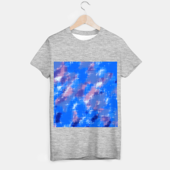 painting texture abstract background in blue pink T-shirt regular thumbnail image