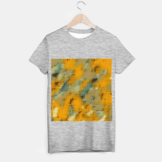 painting texture abstract background in brown and green T-shirt regular thumbnail image