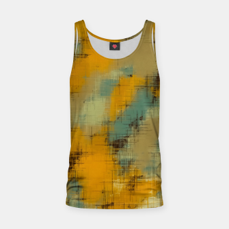 painting texture abstract background in brown and green Tank Top thumbnail image