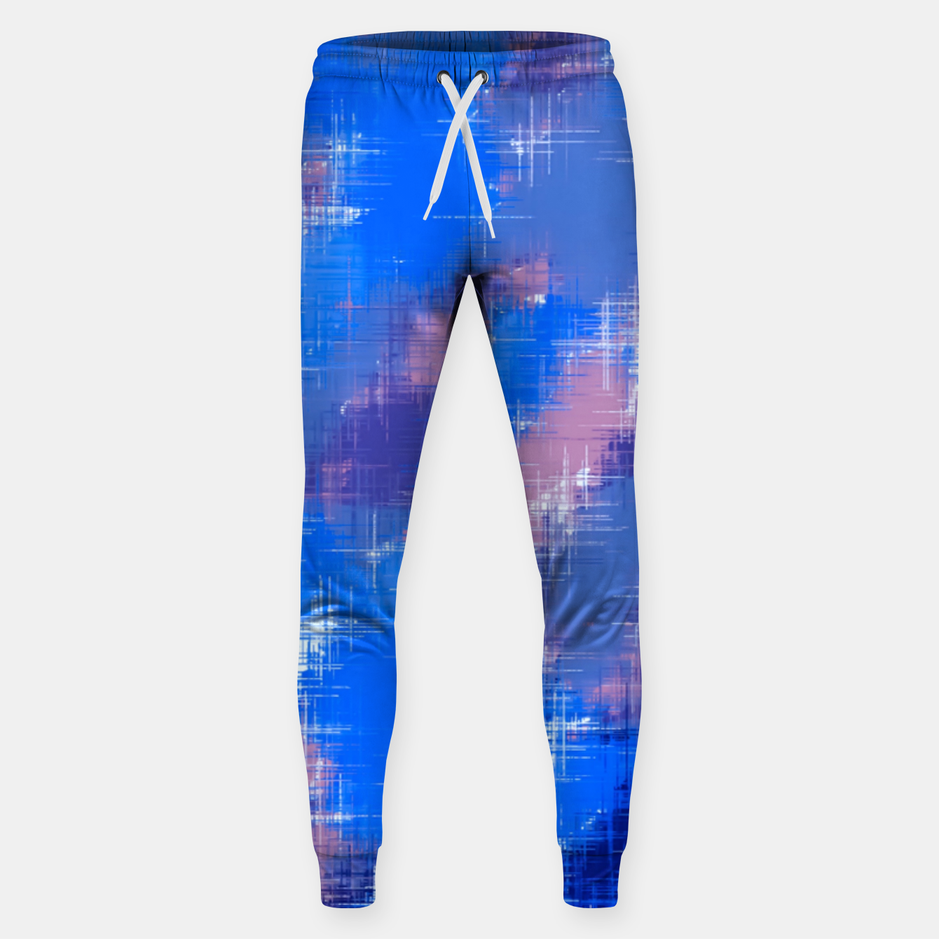 Image of painting texture abstract background in blue pink Sweatpants - Live Heroes