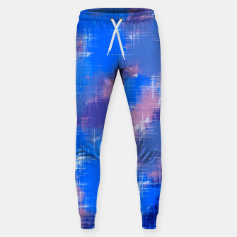 painting texture abstract background in blue pink Sweatpants thumbnail image