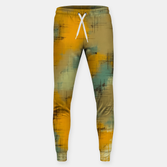 painting texture abstract background in brown and green Sweatpants thumbnail image