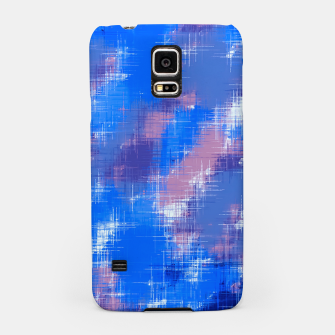 painting texture abstract background in blue pink Samsung Case thumbnail image