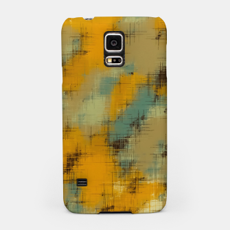 painting texture abstract background in brown and green Samsung Case thumbnail image