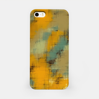 painting texture abstract background in brown and green iPhone Case thumbnail image
