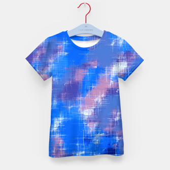 painting texture abstract background in blue pink Kid's t-shirt thumbnail image