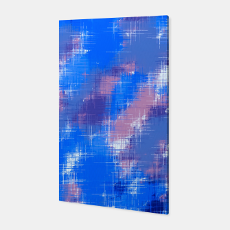 painting texture abstract background in blue pink Canvas thumbnail image