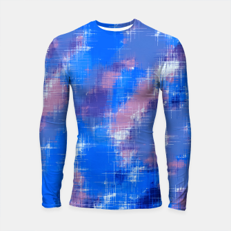painting texture abstract background in blue pink Longsleeve rashguard  thumbnail image