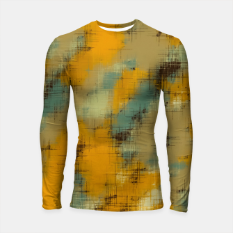 painting texture abstract background in brown and green Longsleeve rashguard  thumbnail image