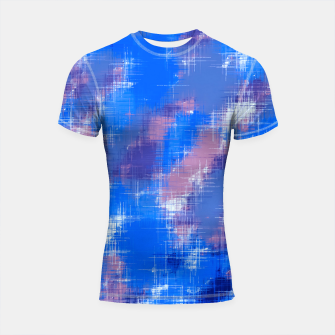 painting texture abstract background in blue pink Shortsleeve rashguard thumbnail image