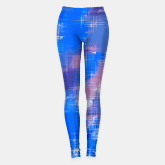 painting texture abstract background in blue pink Leggings thumbnail image