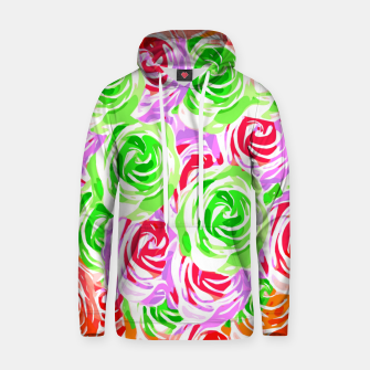 Thumbnail image of colorful rose pattern abstract in red pink green Hoodie, Live Heroes
