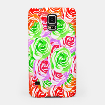 colorful rose pattern abstract in red pink green Samsung Case thumbnail image