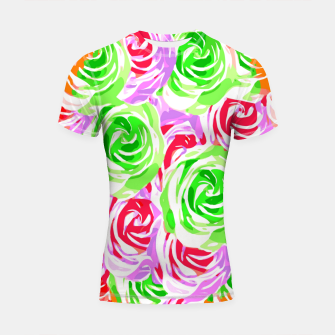 colorful rose pattern abstract in red pink green Shortsleeve rashguard thumbnail image