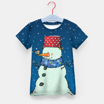Imagen en miniatura de Song for Mr.Snowman Kid's t-shirt, Live Heroes