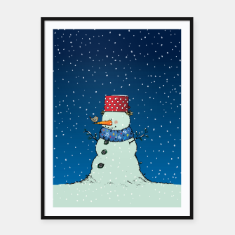Thumbnail image of Song for Mr.Snowman Framed poster, Live Heroes