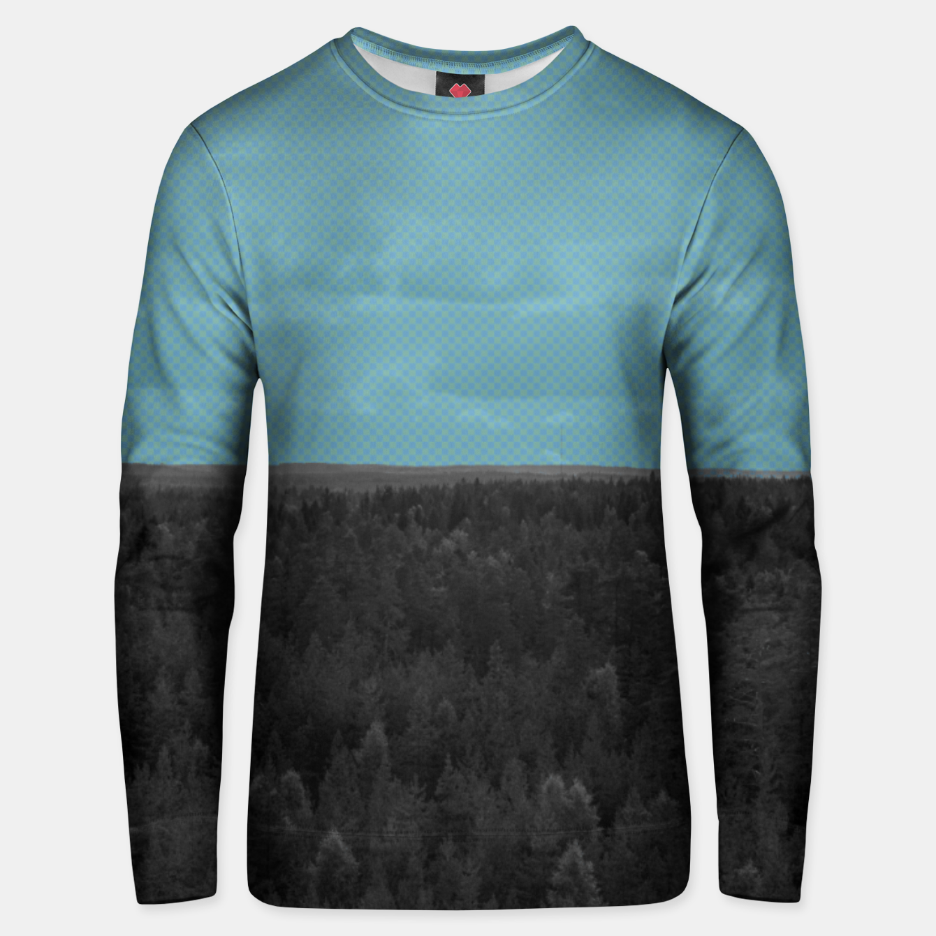Image of Forest and blue sky Unisex sweater - Live Heroes