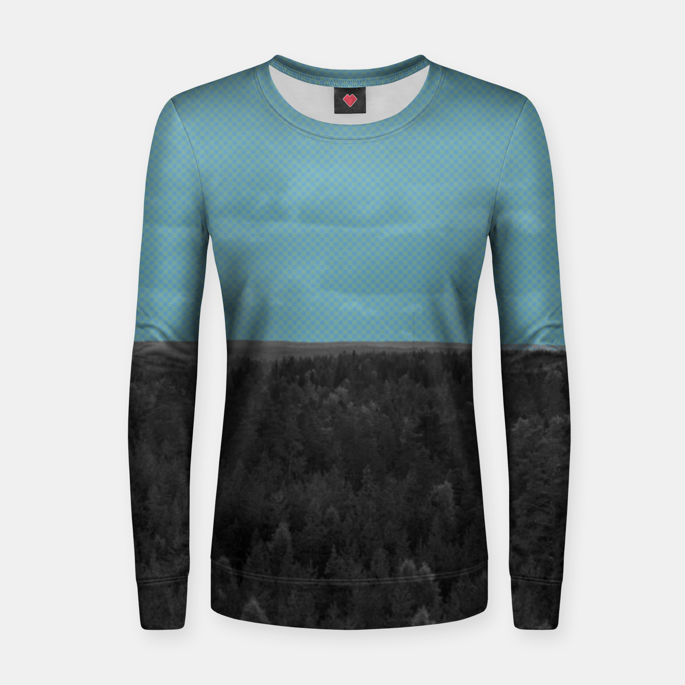 Image of Forest and blue sky Women sweater - Live Heroes