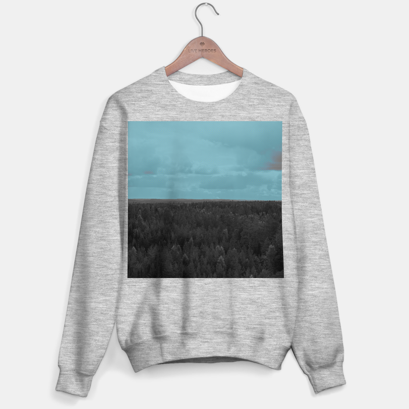 Image of Forest and blue sky Sweater regular - Live Heroes