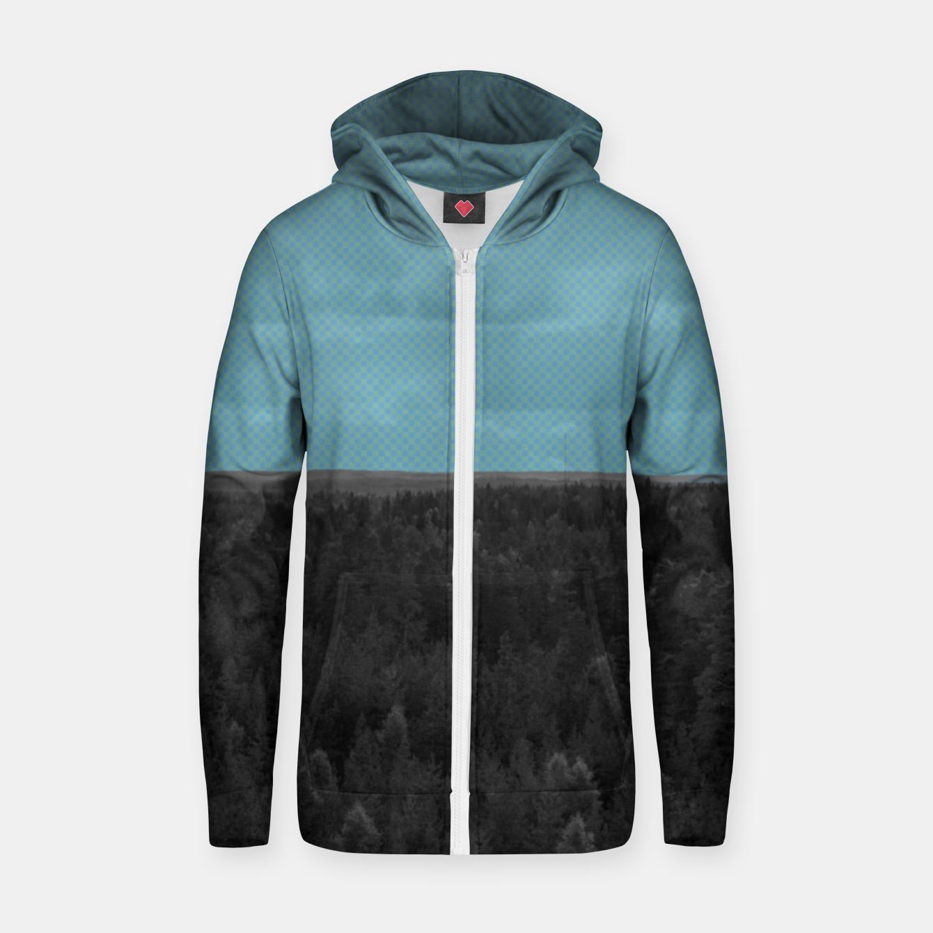 Image of Forest and blue sky Zip up hoodie - Live Heroes