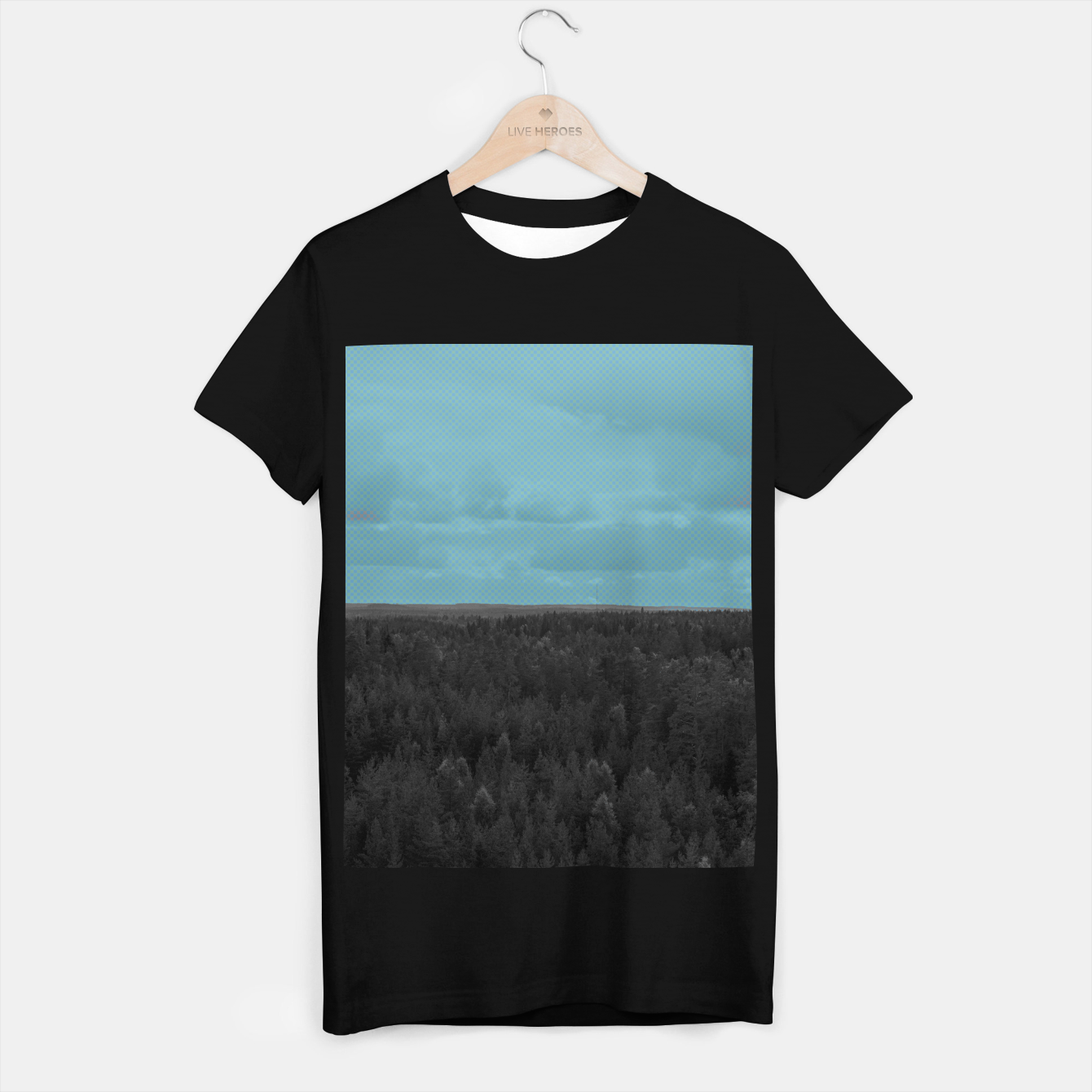 Image of Forest and blue sky T-shirt regular - Live Heroes