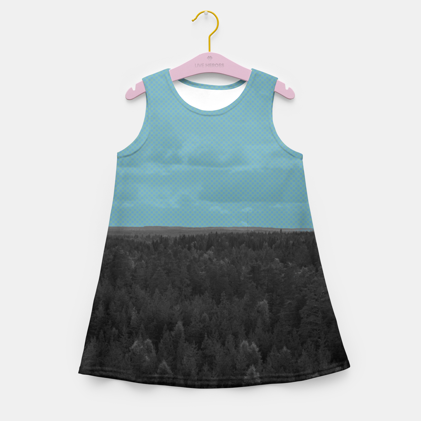 Image of Forest and blue sky Girl's summer dress - Live Heroes